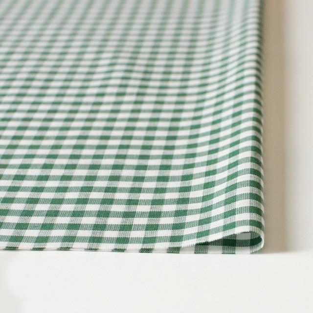コットン&リネン×ギンガムチェック(グリーン)×薄シーチング_全2色 イメージ3
