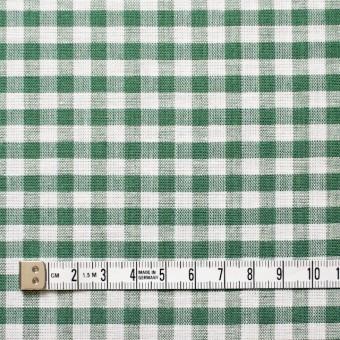 コットン&リネン×ギンガムチェック(グリーン)×薄シーチング_全2色 サムネイル4