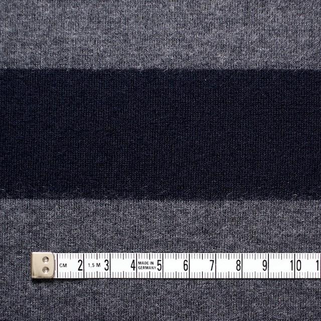 ウール×ボーダー(グレー&ネイビー)×天竺ニット イメージ4