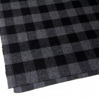 ウール&ポリエステル混×ブロックチェック(グレー&ブラック)×起毛ツイード サムネイル2