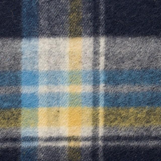 コットン×チェック(イエロー&ブルー)×フランネル_全3色 イメージ1
