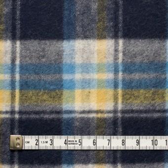 コットン×チェック(イエロー&ブルー)×フランネル_全3色 サムネイル4