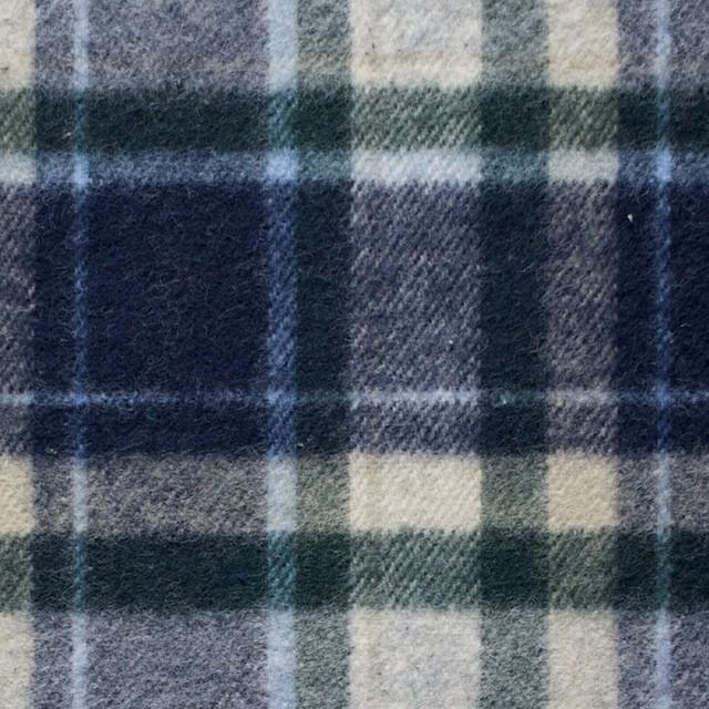 コットン×チェック(グリーン&ブルー)×フランネル_全3色 イメージ1