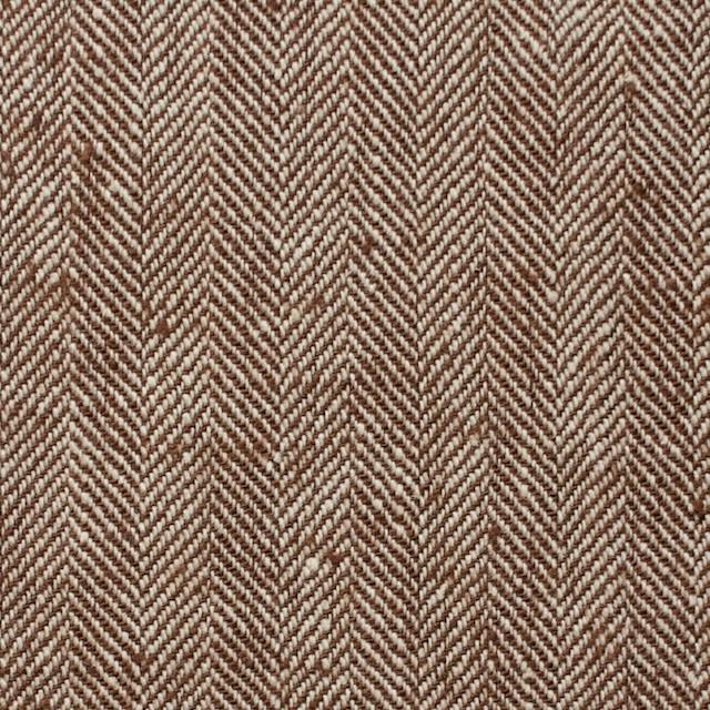 コットン×無地(レンガ)×ヘリンボーン_全2色 イメージ1