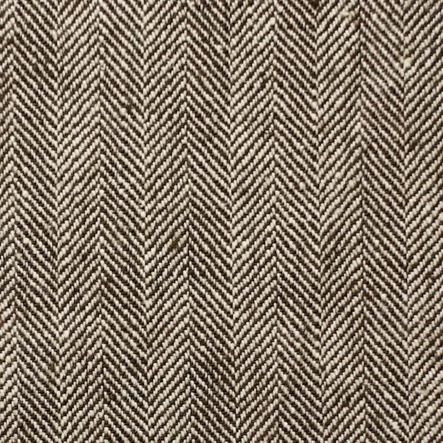 コットン×無地(ダークブラウン)×ヘリンボーン_全2色 イメージ1