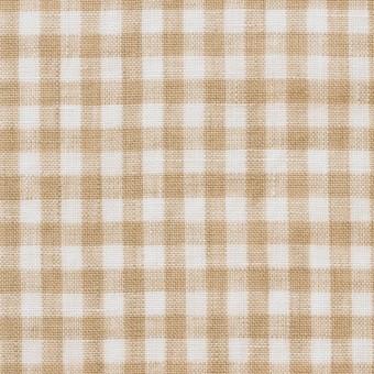 リネン×ギンガムチェック(ベージュ)×薄キャンバス_全5色 サムネイル1