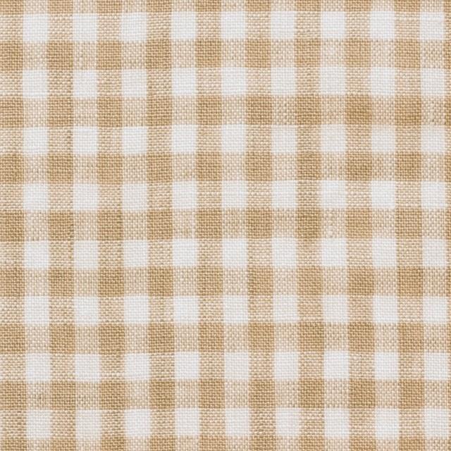 リネン×ギンガムチェック(ベージュ)×薄キャンバス_全5色 イメージ1