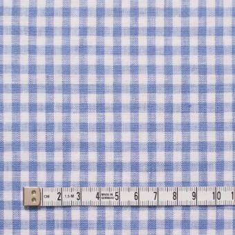 リネン×ギンガムチェック(サックス)×薄キャンバス_全5色 サムネイル4