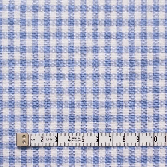 リネン×ギンガムチェック(サックス)×薄キャンバス_全5色 イメージ4