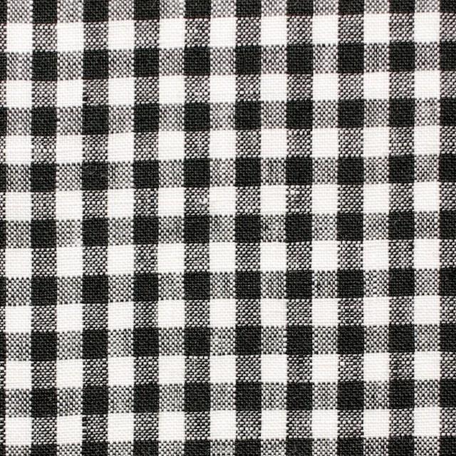 リネン×ギンガムチェック(ブラック)×薄キャンバス_全5色 イメージ1
