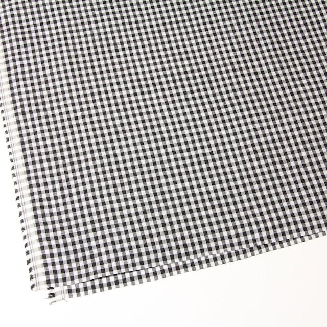 リネン×ギンガムチェック(ブラック)×薄キャンバス_全5色 イメージ2