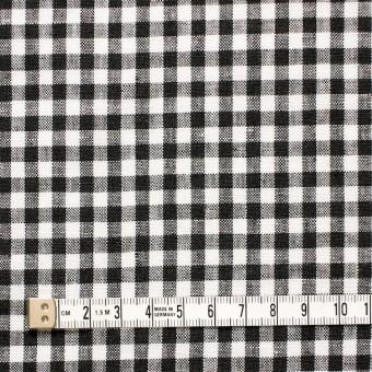 リネン×ギンガムチェック(ブラック)×薄キャンバス_全5色 サムネイル4