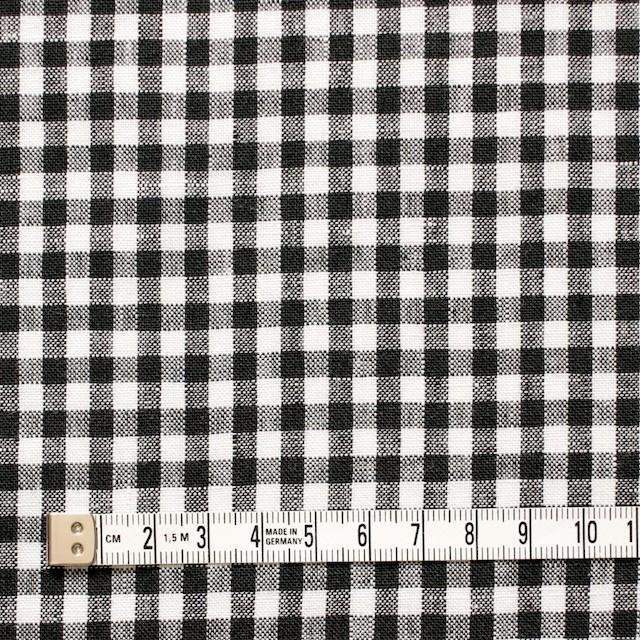 リネン×ギンガムチェック(ブラック)×薄キャンバス_全5色 イメージ4