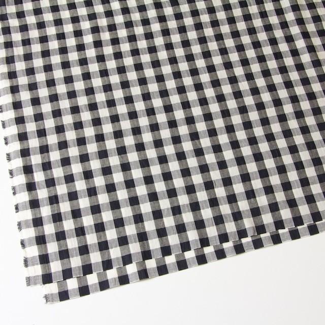 コットン×ギンガムチェック(ブラック)×ヘリンボーン_全2色 イメージ2