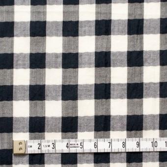 コットン×ギンガムチェック(ブラック)×ヘリンボーン_全2色 サムネイル4