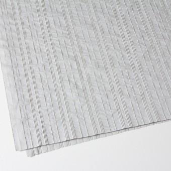 コットン&ナイロン混×ストライプ(ライトグレー)×ピンタックジャガード_全2色 サムネイル2