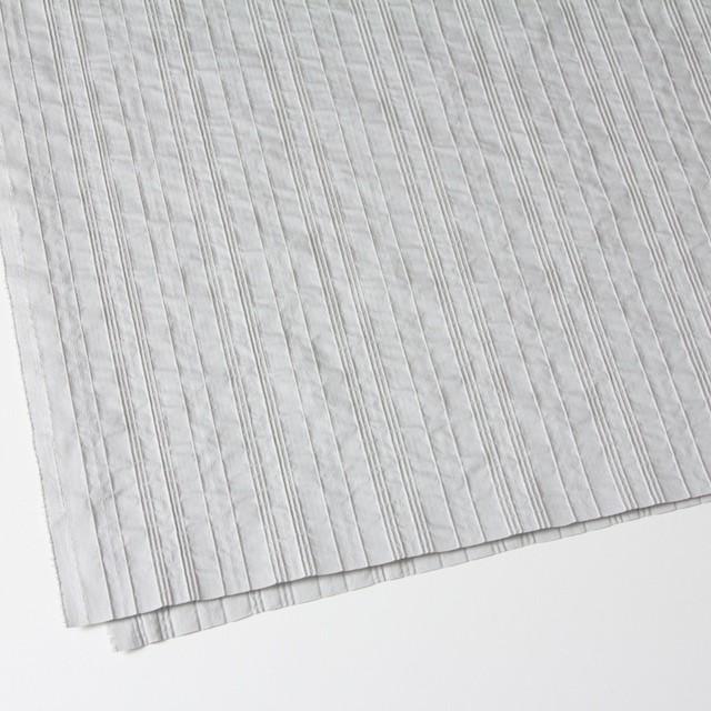コットン&ナイロン混×ストライプ(ライトグレー)×ピンタックジャガード_全2色 イメージ2