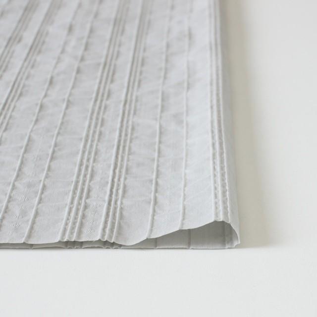 コットン&ナイロン混×ストライプ(ライトグレー)×ピンタックジャガード_全2色 イメージ3