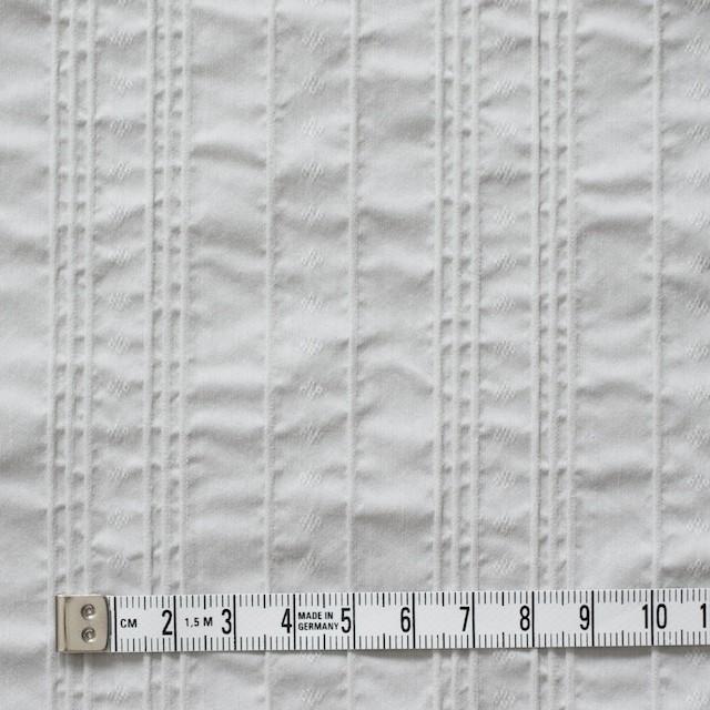 コットン&ナイロン混×ストライプ(ライトグレー)×ピンタックジャガード_全2色 イメージ4