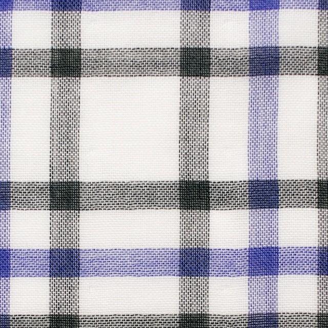 コットン×チェック(パープル&ブラック)×Wガーゼ_全2色 イメージ1