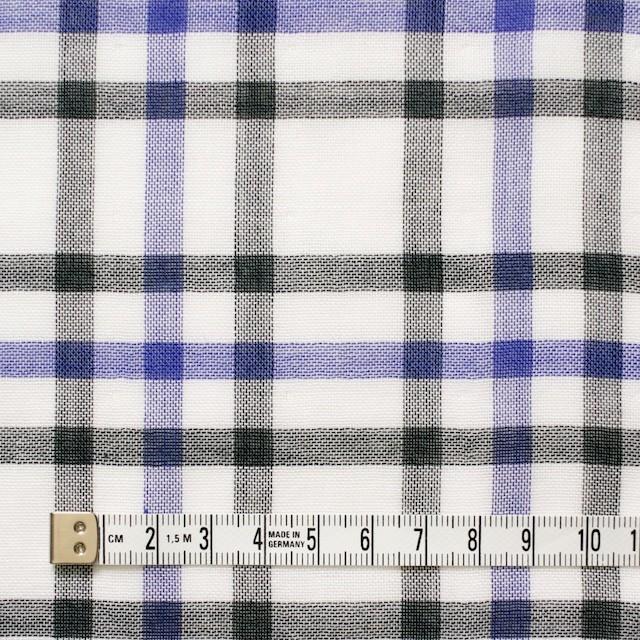 コットン×チェック(パープル&ブラック)×Wガーゼ_全2色 イメージ4