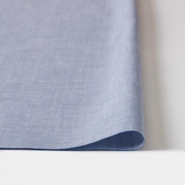 コットン×無地(ブルー)×オックスフォード・シャンブレー イメージ3