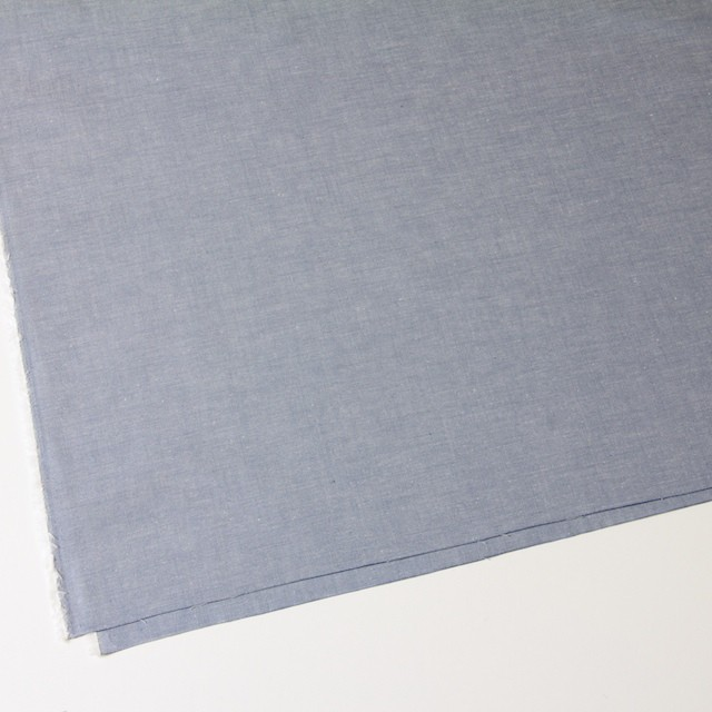 コットン×無地(サックスブルー)×薄ダンガリー イメージ2