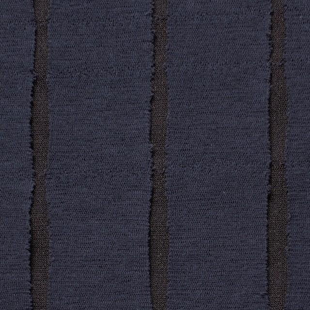 ナイロン&ポリエステル×ストライプ(ネイビー&ブラウン)×パワーネット イメージ1