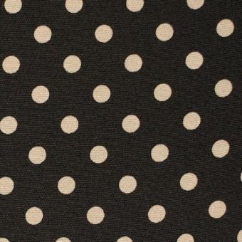 シルク×水玉(アイボリー×ブラック)×デシン サムネイル1