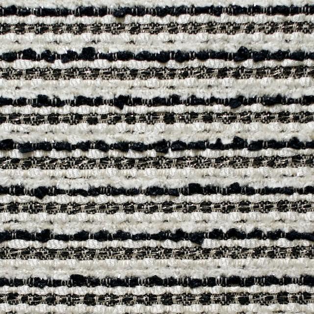 ウール&ナイロン混×ボーダー(ホワイト&ブラック)×ファンシーツイード イメージ1