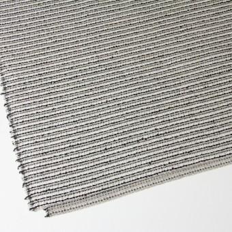 ウール&ナイロン混×ボーダー(ホワイト&ブラック)×ファンシーツイード サムネイル2