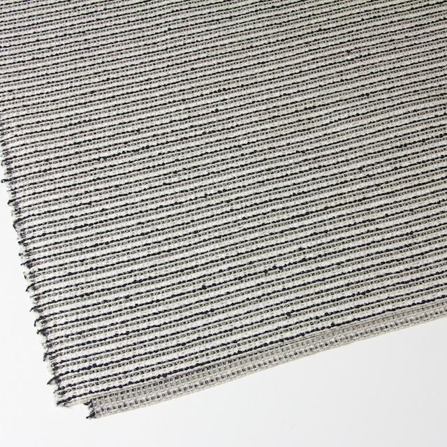 ウール&ナイロン混×ボーダー(ホワイト&ブラック)×ファンシーツイード イメージ2