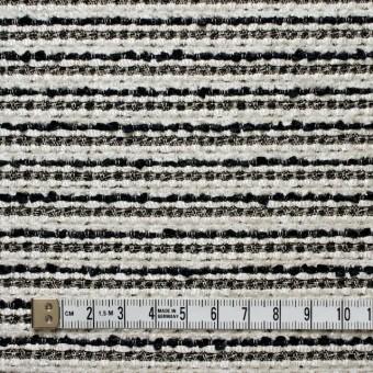 ウール&ナイロン混×ボーダー(ホワイト&ブラック)×ファンシーツイード サムネイル4
