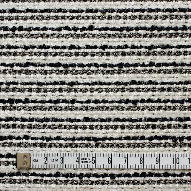 ウール&ナイロン混×ボーダー(ホワイト&ブラック)×ファンシーツイード イメージ4