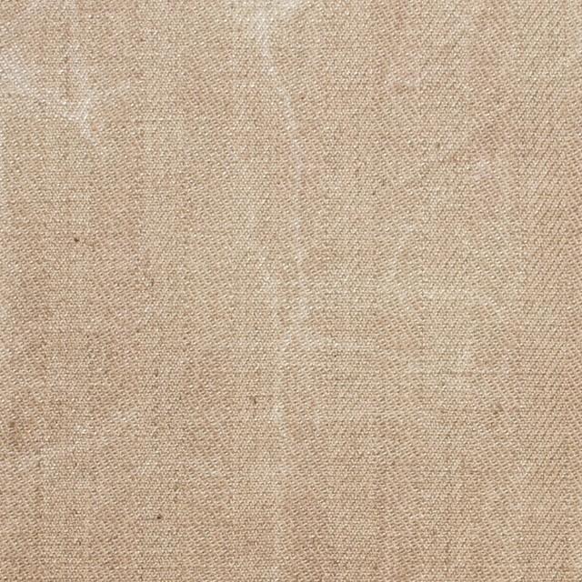 コットン&リネン混×パラフィンプリント(ベージュピンク)×ヘリンボーンストレッチ イメージ1