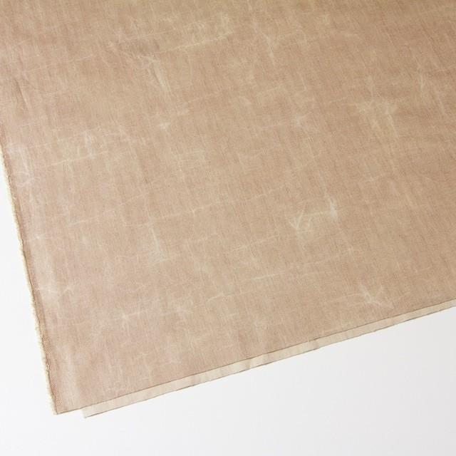 コットン&リネン混×パラフィンプリント(ベージュピンク)×ヘリンボーンストレッチ イメージ2