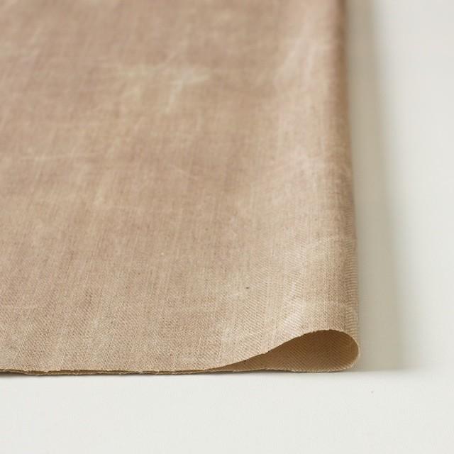 コットン&リネン混×パラフィンプリント(ベージュピンク)×ヘリンボーンストレッチ イメージ3