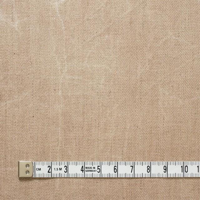 コットン&リネン混×パラフィンプリント(ベージュピンク)×ヘリンボーンストレッチ イメージ4