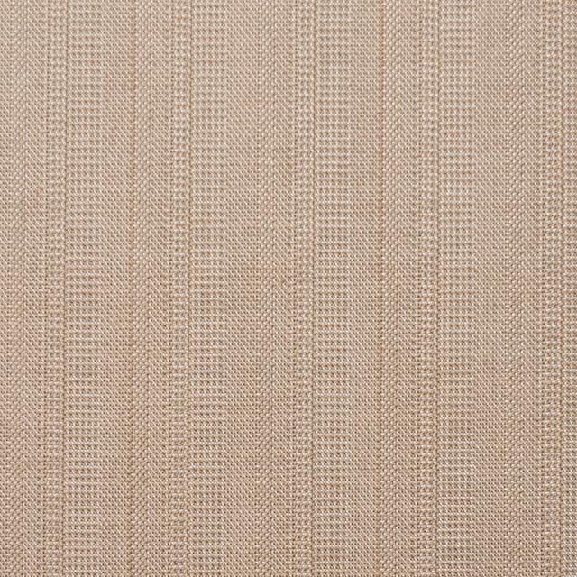 コットン&ポリエステル×ストライプ(ベージュピンク)×ヘリンボーンミックス イメージ1