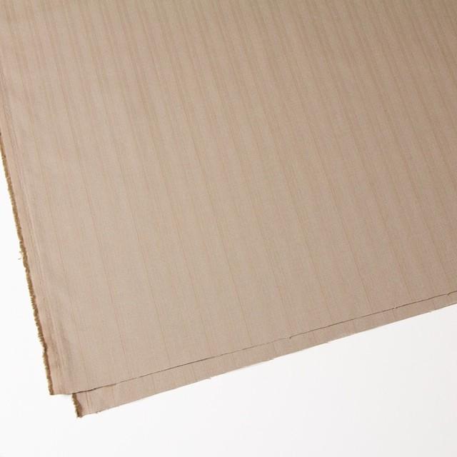 コットン&ポリエステル×ストライプ(ベージュピンク)×ヘリンボーンミックス イメージ2