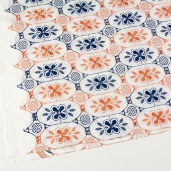 コットン×フラワー(ホワイト)×ローン刺繍_全2色 サムネイル2