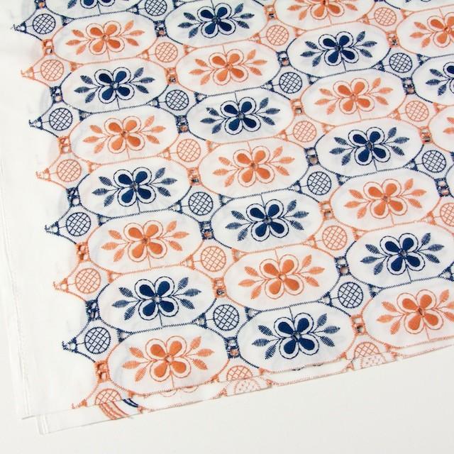 コットン×フラワー(ホワイト)×ローン刺繍_全2色 イメージ2
