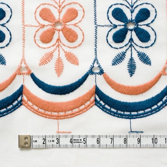 コットン×フラワー(ホワイト)×ローン刺繍_全2色 イメージ4