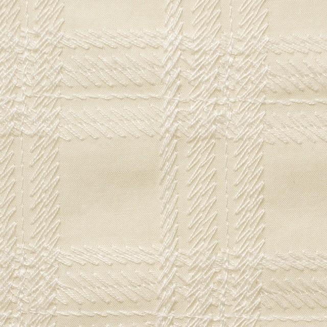 コットン×チェック(キナリ)×ローン刺繍_全3色 イメージ1