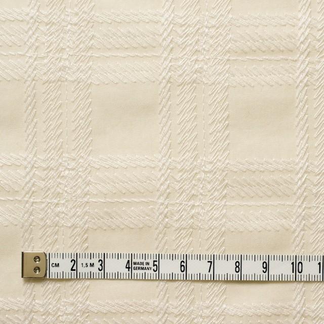 コットン×チェック(キナリ)×ローン刺繍_全3色 イメージ4