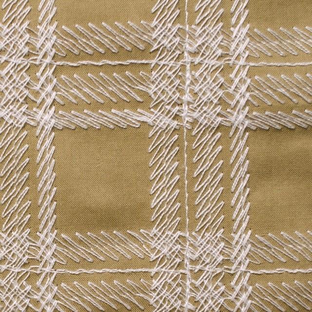 コットン×チェック(カフェオレ)×ローン刺繍_全3色 イメージ1
