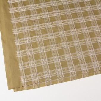 コットン×チェック(カフェオレ)×ローン刺繍_全3色 サムネイル2