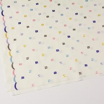 コットン&シルク×幾何学模様(アイボリー)×ブロード刺繍_全3色 サムネイル2