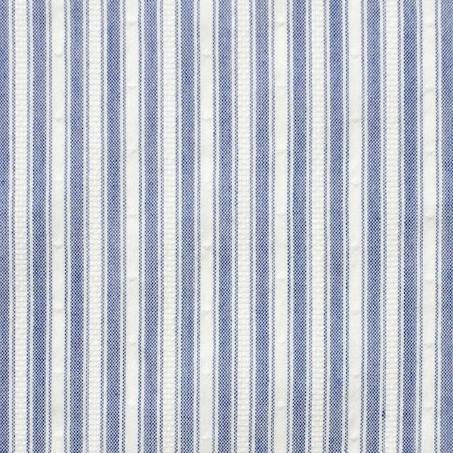 コットン&ポリ混×ストライプ(ブルー)×からみドビー イメージ1