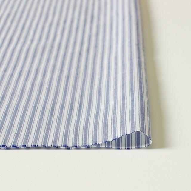 コットン&ポリ混×ストライプ(ブルー)×からみドビー イメージ3